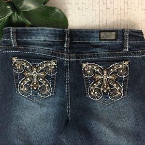 Earl Jean Size 6 Embellished Pockets